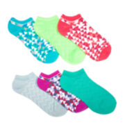 Mixit™ Womens 6-pk. Diamond Pattern No-Show Socks
