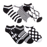 Mixit™ Womens 6-pk. Patterned No-Show Socks