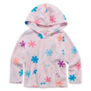 Okie Dokie® Pull-On Fleece Hoodie - Toddler Girls 2t-5t
