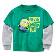 Minion Long-Sleeve Graphic Tee - Toddler Boys 2t-5t