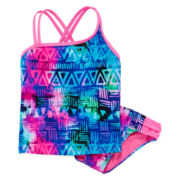 Breaking Waves 2-pc. Tribal Tankini - Girls 7-16
