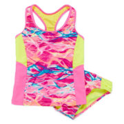 Breaking Waves 2-pc. Athletic Tankini - Girls 7-16