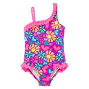 Breaking Waves Ruffle Swimsuit - Preschool Girls 4-6x