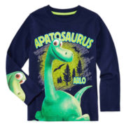 Disney by Okie Dokie® Long-Sleeve Good Dino Tee - Preschool Boys 4-7