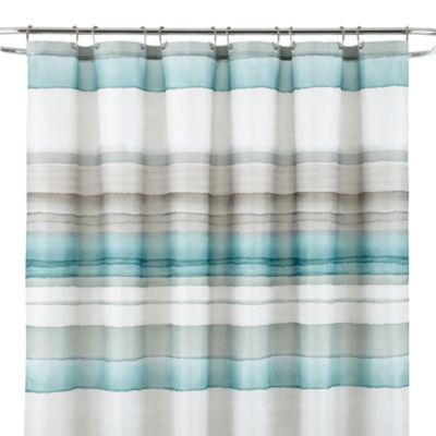 Studio Watercolor Stripe Shower Curtain Jcpenney
