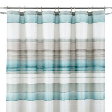 jcpenney.com | Studio™ Watercolor Stripe Shower Curtain
