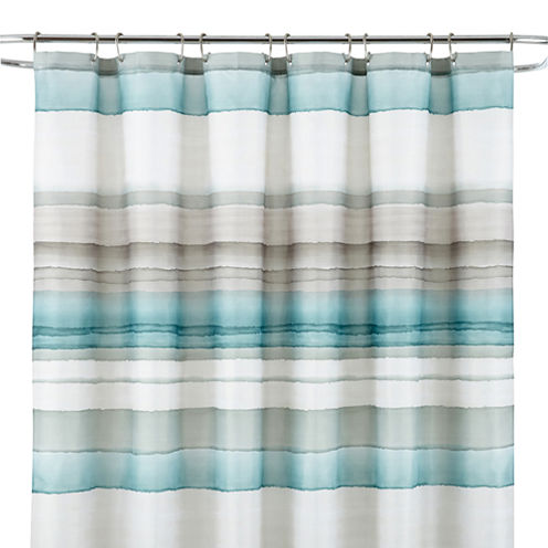 studio watercolor stripe shower curtain jcpenney. Black Bedroom Furniture Sets. Home Design Ideas