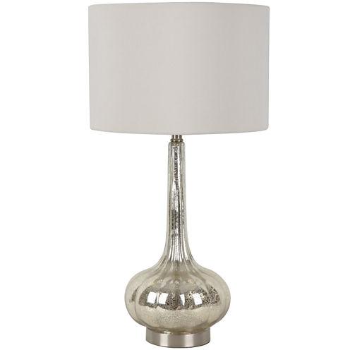 Mercury Glass Genie Table Lamp - Ivory