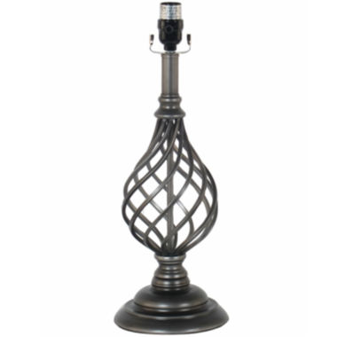 jcpenney.com | JCPenney Home™ Spindle Cage Table Lamp Base - Pewter