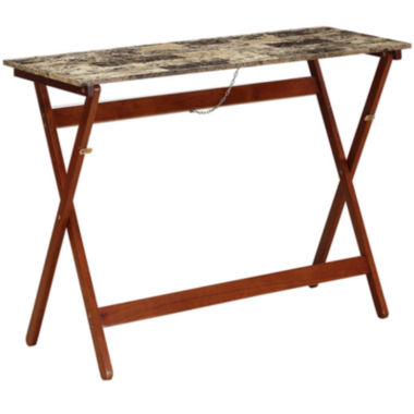jcpenney.com | Faux-Marble Folding Buffet Tray Table