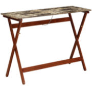 Faux-Marble Folding Buffet Tray Table