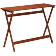 Walnut Folding Buffet Tray Table