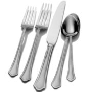 Pfaltzgraff® Everyday Capri Frost 53-pc. 18/10 Stainless Steel Flatware Set