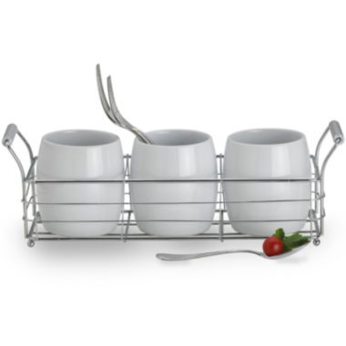 jcpenney.com | Towle® Living 4-pc. Ceramic Cup Metal Caddy Set