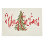 Arlee Merry Christmas Set of 4 Placemats