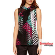 Worthington® Sleeveless Layered Blouse