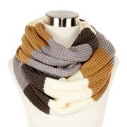 Liz Claiborne® Colorblock Thermal Stitch Infinity Scarf