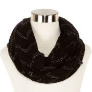 Liz Claiborne® Wave Stitch Pointelle Infinity Scarf