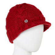 Liz Claiborne® Braided Cable Knit Peak Hat