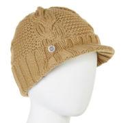 Liz Claiborne® Braided Cable Knit Peak Hat
