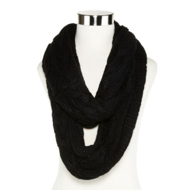 jcpenney.com | Liz Claiborne® Braided Cable Knit Infinity Scarf