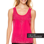 nicole by Nicole Miller® Sleeveless Embellished Tank Top