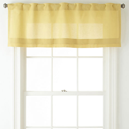 JCPenney Home™ Cotton Classics Rod-Pocket/Back-Tab Pleated Valance