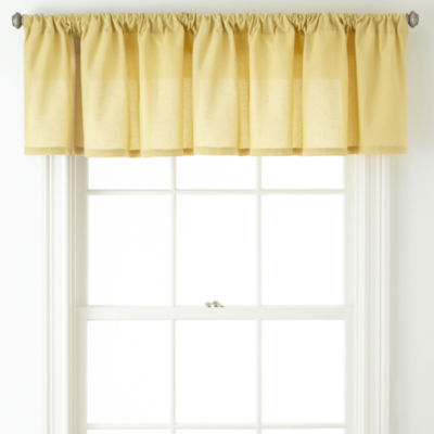 JCPenney Home™  Cotton Classics Rod-Pocket Tailored Valance