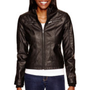 Marilyn & Me Faux-Leather Jacket