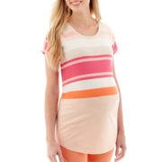 a.n.a® Maternity Short-Sleeve Boyfriend Tee - Plus