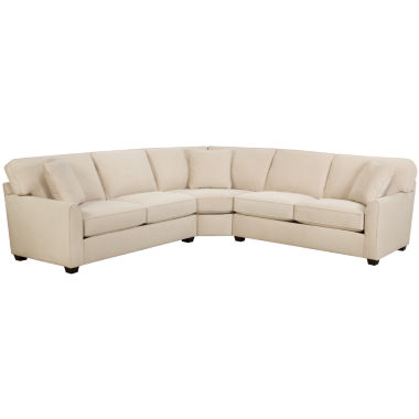 jcpenney.com | Fabric Possibilities Sharkfin-Arm 3-pc.Right-Arm Loveseat Sectional with Sleeper