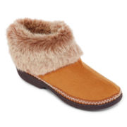 Isotoner® Microsuede Faux-Fur Boot Slippers