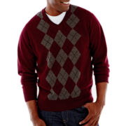 Dockers® V-Neck Argyle Sweater