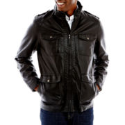 IZOD® Faux-Leather Field Jacket