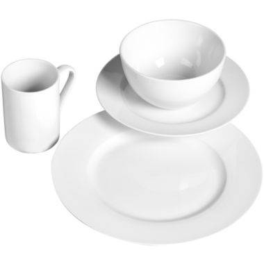 jcpenney.com | Tabletops Unlimited® Soleil Round Rim Porcelain 16-pc. Dinnerware Set