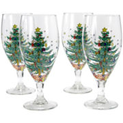 Nikko® Happy Holidays Set of 4 Stemware Glasses