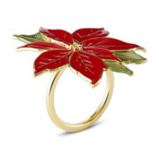 Poinsettia Set of 4 Napkin Rings