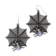 Carole Spiderweb Halloween Earrings