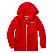 Okie Dokie® Hooded Fleece Jacket - Girls 2-6