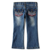 Arizona Chevron Pocket Bootcut Jeans - Girls 2t-6