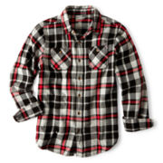 Arizona Button-Front Flannel Shirt – Boys 6-18