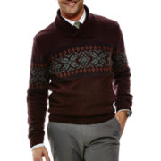 Haggar® Fair Isle Cardigan Sweater