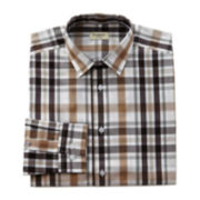 Haggar® Large Plaid End-On-End Dress Shirt