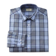 Haggar® Glen Plaid End-On-End Dress Shirt