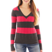 Arizona V-Neck Cable Knit Sweater