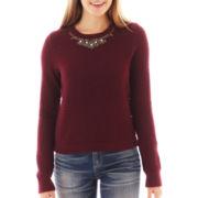 Arizona Embellished High-Low Sweatshirt
