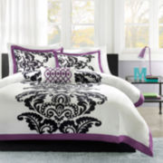 Mi Zone Capri Damask Duvet Cover Set