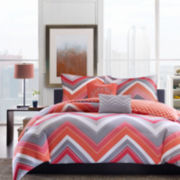 Intelligent Design Elise Chevron Comforter Set