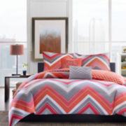 Intelligent Design Elise Chevron Comforter Set