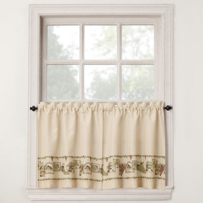 Bordeaux Rod-Pocket Window Tiers